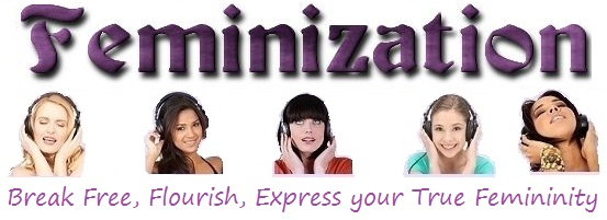 feminization logo with 5 girls with headphones